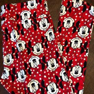 LuLaRoe Disney Minnie Mouse Leggings Size TC